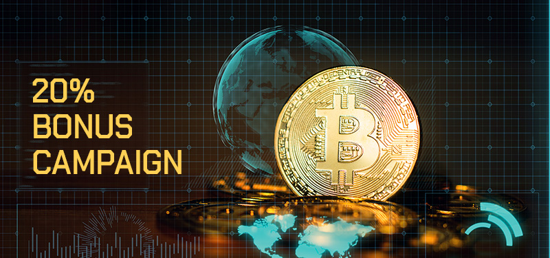 KajeForex - 20% Bitcoin Welcome Bonus